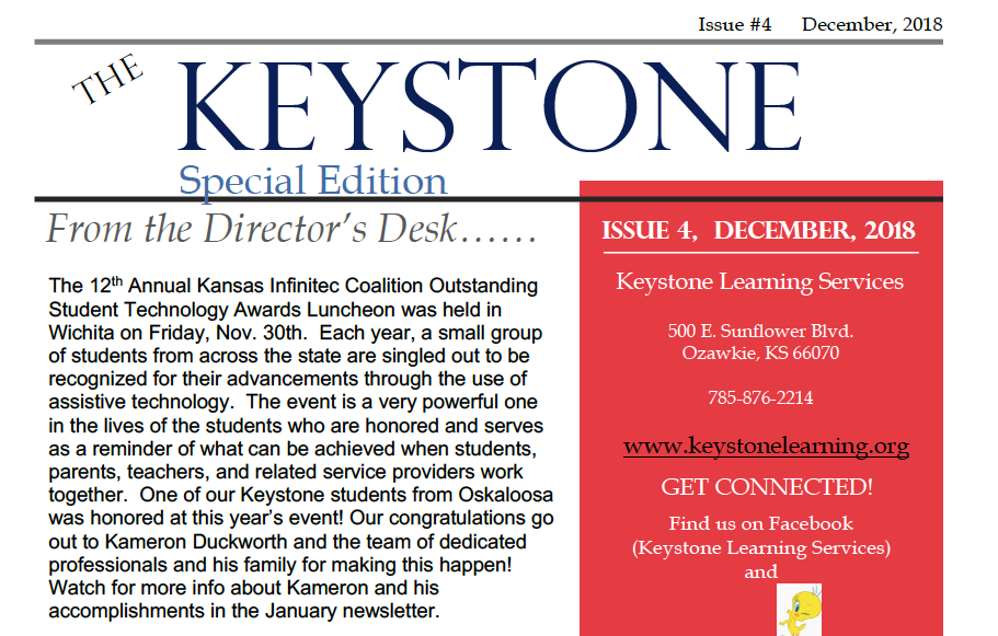December Keystone Newsletter