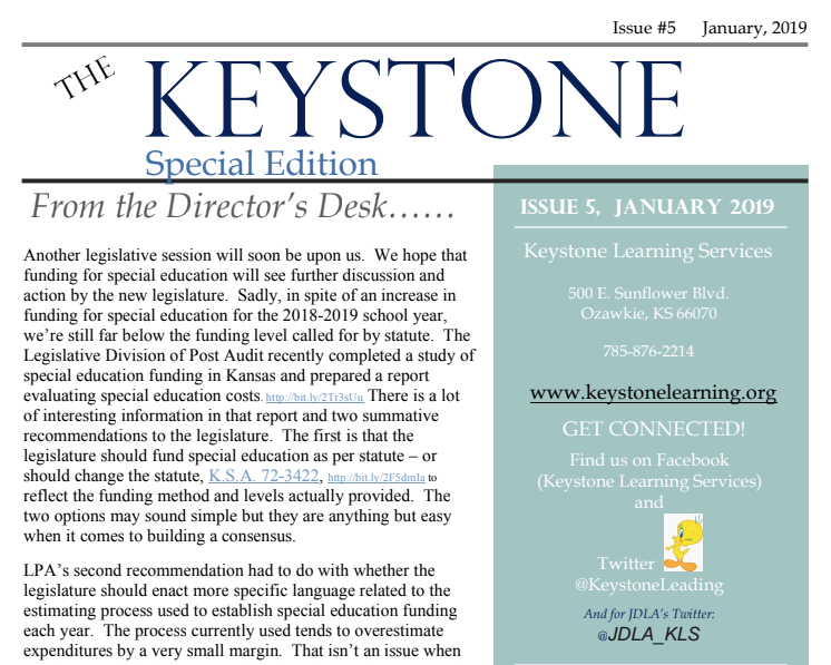 January Keystone Newsletter